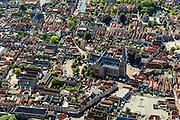 Nederland, Noord-Holland, Gemeente Hoorn, 05-08-2014; binnenstad van Hoorn.<br /> Town center Hoorn.<br /> luchtfoto (toeslag op standard tarieven);<br /> aerial photo (additional fee required);<br /> copyright foto/photo Siebe Swart