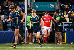 George Hawkes (Solihull School) of Worcester Warriors U18 - Rogan Thomson/JMP - 16/02/2017 - RUGBY UNION - Sixways Stadium - Worcester, England - Worcester Warriors U18 v Saracens U18 - Premiership Rugby Under 18 Academy Finals Day 5th Place Play-Off.