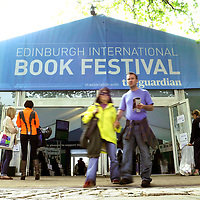 General view of the entrance to the Edinburgh International Book Festival, August 18th, 2011.