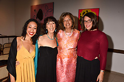 Left to right, Imani Altemus-Williams, Barabara Altemus, Vimla Lalvani and Hilary Hacker at The Calling: Heal Ourselves Heal Our Planet held at San Lorenzo, 22 Beauchamp Place, London England. 28 March 2017.