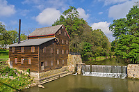 This grist mill sits at the edge of Pine Creek in Wildcat Den State Park. It was built in 1848, but has obviously been restored to its present condition.