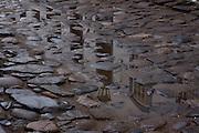 Paraty_RJ, Brasil...Detalhe da agua de chuva na rua de Paraty...Detail of a rain water in the street in Paraty...Foto: MARCUS DESIMONI / NITRO