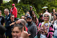 Protesters are seen moving towards the Yarra during the Melbourne Freedom Rally at The Shrine. Premier Daniel Andrews promises 'significant' easing of Stage 4 restrictions this weekend. This comes as only one new case of Coronavirus was unearthed over the past 24 hour and no deaths. (Photo by Dave Hewison/Speed Media)