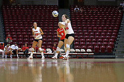 16 AUG 2008:  Laura Wakefield passes the ball forward during the annual Red-White intra-squad scrimmage at Redbird Arena on the campus of Illinois State University in Normal Illinois.