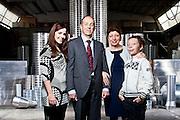 La famiglia Moro, proprietaria dell'azienda Spiralo, specializzata nella produzione di tubi in differenti metalli. Nella foto Sergio Moro, la moglie Beatrice e i due figli Silvia e Matteo.