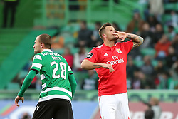 February 3, 2019 - Lisbon, Portugal - Benfica's Suisse forward Haris Seferovic celebrates after scoring a goal during the Portuguese League football match Sporting CP vs SL Benfica at Alvalade stadium in Lisbon, Portugal on February 3, 2019. (Credit Image: © Pedro Fiuza/NurPhoto via ZUMA Press)