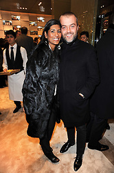 Martin Kuczmarski and his wife Ruby Hammer at a Cocktail party to celebrate the opening of the new Miu Miu boutique, 150 New Bond Street, London hosted by Miuccia Prada and Patrizio Bertelli on 3rd December 2010.