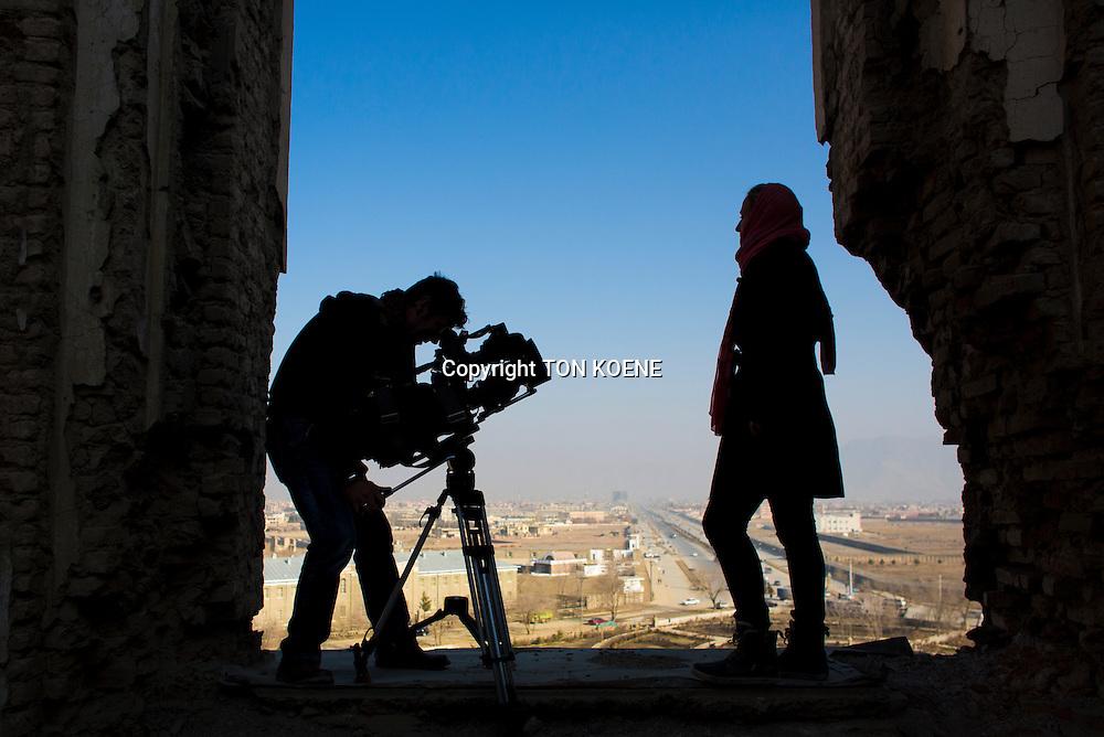 cameraman at work in kabul