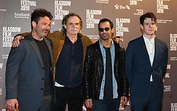 Glasgow Film Festival 2019<br /> <br /> The UK Premiere of The Vanishing<br /> <br /> Pictured: L-R Mickey Gooch Jr, Kristoffer Nyholm, Maurice Fadida, Connor Swindells<br /> <br /> (c) Aimee Todd | Edinburgh Elite media