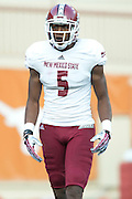 AUSTIN, TX - AUGUST 31: Joseph Matthews #5 of the New Mexico State Aggies looks on against the Texas Longhorns on August 31, 2013 at Darrell K Royal-Texas Memorial Stadium in Austin, Texas.  (Photo by Cooper Neill/Getty Images) *** Local Caption *** Joseph Matthews
