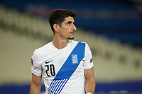 ATHENS, GREECE - OCTOBER 14: Petros Mantalosof Greece during the UEFA Nations League group stage match between Greece and Kosovo at OACA Spyros Louis on October 14, 2020 in Athens, Greece. (Photo by MB Media)