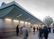 green park underground station entrance and exit, lodndon victoria line tube england uk architecture building