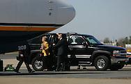 McAllen, TX - 13 Feb 2008 -.Senator Hillary Clinton, D-New York, departs McAllen Miller International Airport after a campaign appearance on Wednesday morning at the McAllen Convention Center.