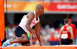 Canada's Damian Warner reacts after failing his third attempt during the Men's Decathlon Pole Vault meaning he scores zero from the event at the Carrara Stadium during day six of the 2018 Commonwealth Games in the Gold Coast, Australia.