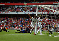 Photo: Tony Oudot/Richard Lane Photography. SV Hamburg v Real Madrid. Emirates Cup. 02/08/2008. <br /> Daniel Parejo of Real Madrid scores the winning goal