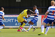 AFC Wimbledon striker Dominic Poleone (10) during the Pre-Season Friendly match between AFC Wimbledon and Reading at the Cherry Red Records Stadium, Kingston, England on 23 July 2016. Photo by Stuart Butcher.