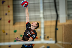 Jasper Wijkstra of Talent Team in action during the first league match in the corona lockdown between Talentteam Papendal vs. Vocasa on January 13, 2021 in Ede.
