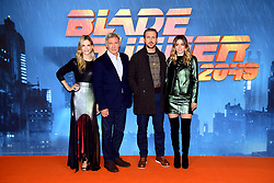 Sylvia Hoeks, Harrison Ford, Ryan Gosling and Ana de Armas (left-right) attending the Blade Runner 2049 photocall at the Corinthia Hotel, London.