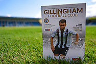 General view including SkyBET League 1 EFL logo before the EFL Sky Bet League 1 match between Gillingham and Coventry City at the MEMS Priestfield Stadium, Gillingham, England on 25 August 2018.