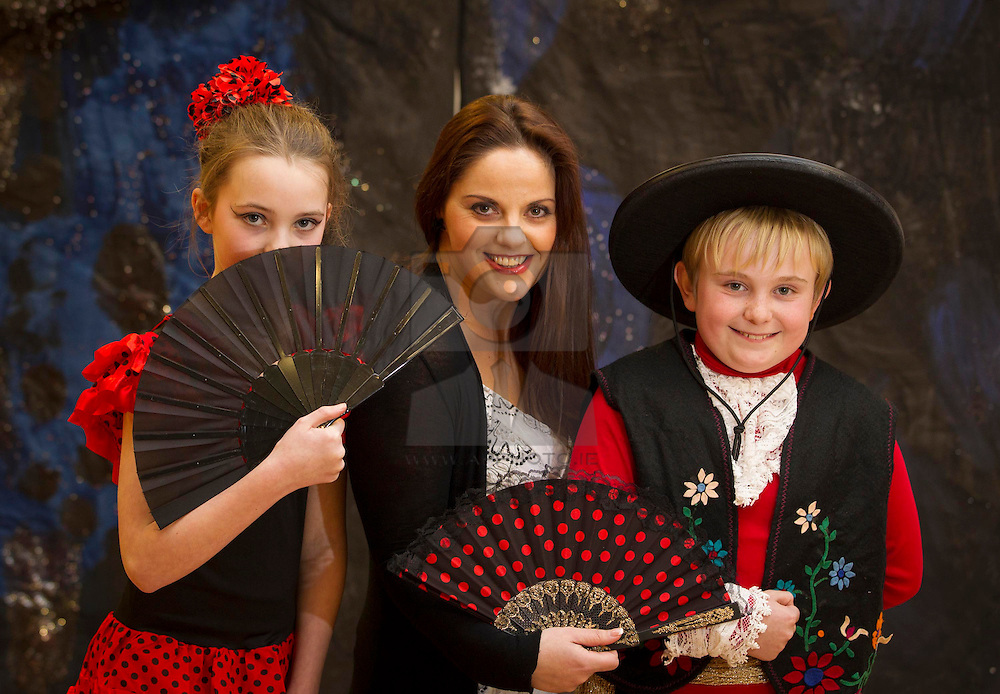 Repro Free:.Irish soprano Celine Byrne is pictured with Lily Kate Hearns (12) and Zak Jenciragic (11) of the Junior Musicals Choir who were busy rehearsing at the Marino School in Bray, Co. Wicklow for Carmen the Opera, which takes place live at the Bord Gáis Energy Theatre form 13th-17th March. Celine will be joining The Moscow State Opera with other guest soloists in a very special staging of the world's favourite opera. For ticket information visit www.bordgaisenergytheatre.ie Pic Andres Poveda.