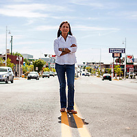 FILE - In this June 5, 2018, file photo, Deb Haaland poses for a portrait in a Nob Hill Neighborhood in Albuquerque, N.M. More than 100 Native Americans are seeking seats in Congress, governor's offices, state legislatures and other posts across the country in what political observers say has been a record number of candidates. Congressional races in New Mexico and Kansas could determine whether Congress has its first Native American representative. (AP Photo/Juan Labreche, File)