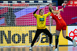 Dinah Eckerle of Germany, Aleksandra Rosiak of Poland during the Women's EHF Euro 2020 match between Germany and Poland at Sydbank Arena on december 07, 2020 in Kolding, Denmark (Photo by RHF Agency/Ronald Hoogendoorn)