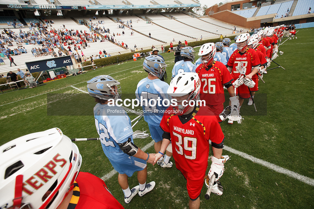 CHAPEL HILL, NC - MARCH 22: North Carolina Tar Heels during a game against the Maryland Terrapins on March 22, 2014 at Kenan Stadium in Chapel Hill, North Carolina. North Carolina won 11-8. (Photo by Peyton Williams/Inside Lacrosse)