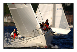Yachting- The start of the Bell Lawrie Scottish series 2002 at Gourock racing overnight to Tarbert Loch Fyne where racing continues over the weekend.<br /><br />Hika - Sigma 38 GBR8274 Class 3<br /><br />Pics Marc Turner / PFM
