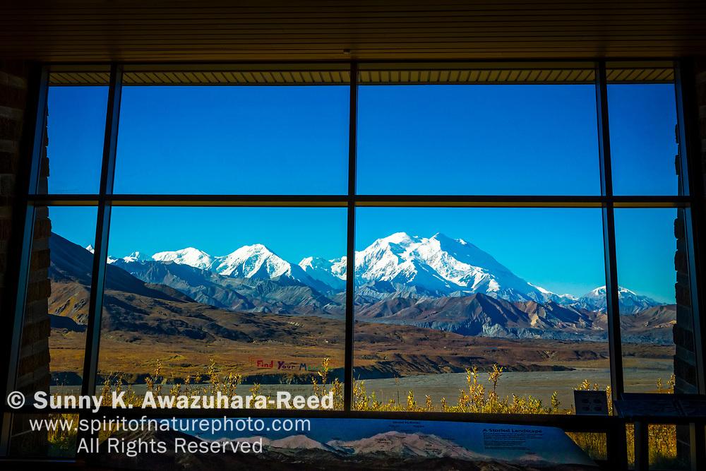 Mt. Denali (McKinley) view from Eielson Visitor Center, Denali National Park & Preserve, Interior Alaska, Autumn.