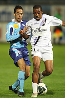 FOOTBALL - FRENCH CHAMPIONSHIP 2010/2011 - L2 - LE HAVRE AC v FC ISTRES - 1/04/2011 - PHOTO ERIC BRETAGNON / DPPI -  WALID MESLOUD (HAC) / AMOR KEHIHA (ISTRES)