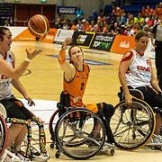 NLD/Rotterdam/20190706 - BN'ers spelen rolstoelbasketbal tijdens EK rolstoelbasketbal vrouwen, nr.9 Jitske Visser, nr 2 ilse Arts en nr. 11 Chèr Korver