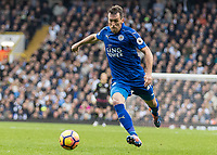 Football - 2016 / 2017 Premier League - Tottenham Hotspur vs. Leicester City<br /> <br /> Christian Fuchs of Leicester City at White Hart Lane.<br /> <br /> COLORSPORT/DANIEL BEARHAM