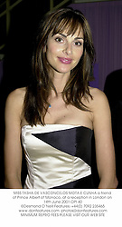 MISS TASHA DE VASCONCELOS MOTA E CUNHA a friend of Prince Albert of Monaco, at a reception in London on 14th June 2001.OPI 40
