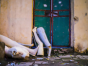 07 APRIL 2012 - HANOI, VIETNAM: Discarded mannequin pieces on a street in Hanoi, the capital of Vietnam. Hanoi is one of the oldest cities in Southeast Asia. It was established in 1010 A.D.   PHOTO BY JACK KURTZ