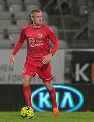 Jonas Henriksen (FC Helsingør) under kampen i 1. Division mellem Viborg FF og FC Helsingør den 30. oktober 2020 på Energi Viborg Arena (Foto: Claus Birch).