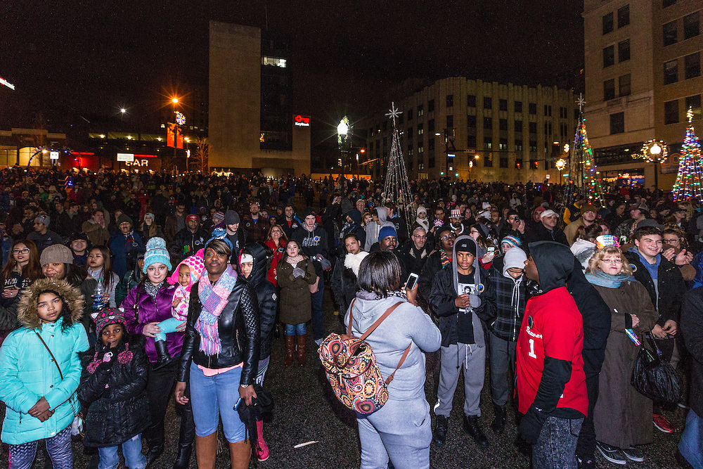 Crowds at Lock 3 Akron at First Night Akron 2017 on Dec. 31, 2016.