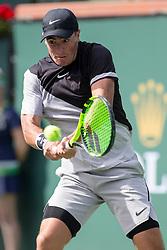 March 09, 2018: Ernesto Escobedo (USA) defeated Frances Tiafoe (USA) 7-5, 6-3 at the BNP Paribas Open played at the Indian Wells Tennis Garden in Indian Wells, California. ©Mal Taam/TennisClix/CSM/Sipa USA(Credit Image: © Mal Taam/CSM/Sipa USA)