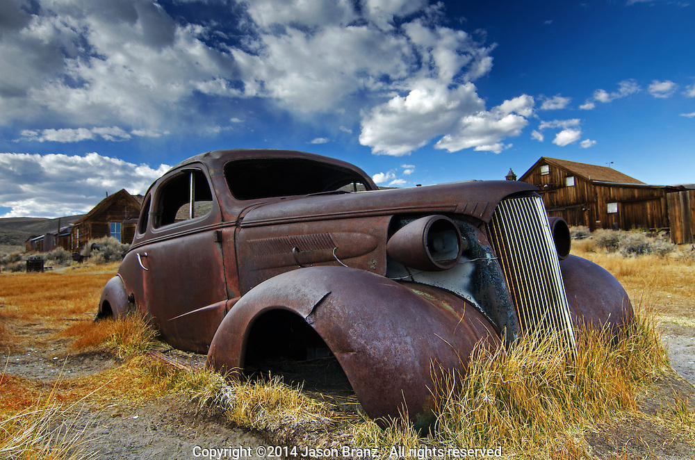 Rusty car at Bodie State Historic Park, California