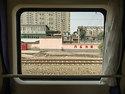Suburbs of Xian. Window view across China, from the train from Hong Kong to Urumqi (Xinjiang).
