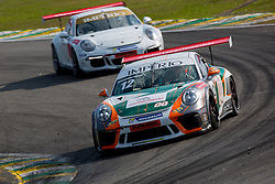 July 27, 2018 - Sao Paulo, Sao Paulo, Brazil - Car #12 in action during the free practice session for the 5th stage of the 2018 Brazilian Porsche GT3 Cup championship, which takes place on Saturday, 28 at Interlagos circuit in Sao Paulo, Brazil. (Credit Image: © Paulo Lopes via ZUMA Wire)
