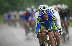 Rider of Team Nippo Endeka leads the peloton in last 4th stage of the 15th Tour de Slovenie from Celje to Novo mesto (157 km), on June 14,2008, Slovenia. (Photo by Vid Ponikvar / Sportal Images)/ Sportida)