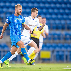 BRISBANE, AUSTRALIA - SEPTEMBER 20: Justyn McKay of Gold Coast City passes the ball during the Westfield FFA Cup Quarter Final match between Gold Coast City and South Melbourne on September 20, 2017 in Brisbane, Australia. (Photo by Gold Coast City FC / Patrick Kearney)