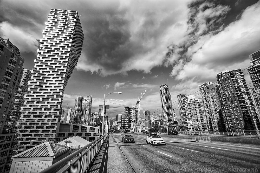 Vancouver House & Granville Bridge (monochrome)