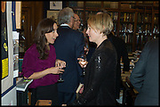HEPHZIBAH ANDERSON; LEAH MCLAREN, Book party for 'The Liar's Ball' by Vicky Ward hosted by  Sir Evelyn  de Rothschild at Henry Sotheran's, 2 Sackville Street London. 25 November 2014