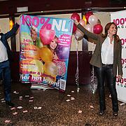 NLD/Volendam/20140626 - 100%NL magazine bestaat 5 jaar, Hans Klok met Leontien Borsato als assistente