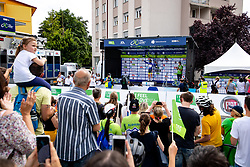 Kenny MOLLY of BINGOAL PAUWELS SAUCES in blue jersey at trophy ceremony after 3rd Stage of 27th Tour of Slovenia 2021 cycling race between Brezice and Krsko (165,8 km), on June 11, 2021 in Slovenia. Photo by Matic Klansek Velej / Sportida