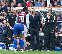Birmingham City manager Gary Rowett  vents his frustration as referee Mike Dean<br /> <br /> Photographer James Williamson/CameraSport<br /> <br /> The EFL Sky Bet Championship - Birmingham City v Aston Villa - Sunday October 30th 2016 - St Andrews - Birmingham<br /> <br /> World Copyright © 2016 CameraSport. All rights reserved. 43 Linden Ave. Countesthorpe. Leicester. England. LE8 5PG - Tel: +44 (0) 116 277 4147 - admin@camerasport.com - www.camerasport.com