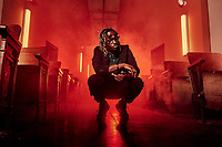 Trap rapper and producer Caddy Kobain photographed in Atlanta, GA.