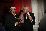 Humphrey Ocean and Nick Lowe, Established and Sons celebrate the launch of a Red Production 'Aqua Table' by Zaha Hadid. ( Profits from Sales will go to Red Campaign HIV treatment in Africa) Grosvenor Place. London. 23 September 2006.  ONE TIME USE ONLY - DO NOT ARCHIVE  © Copyright Photograph by Dafydd Jones 66 Stockwell Park Rd. London SW9 0DA Tel 020 7733 0108 www.dafjones.com