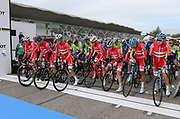Start of the race during the 2020 UCI World Road Championships, Men Elite Road Race, on September 27, 2020 at Autodromo Enzo and Dino Ferrari in Imola, Italy - Photo Laurent Lairys / ProSportsImages / DPPI
